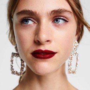 Zara Oversized Crystal Earrings
